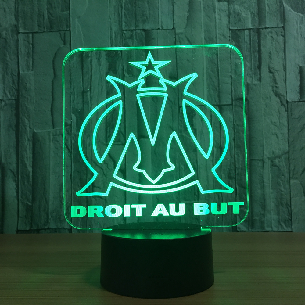 Creative Gift DROIT AU BUT Night Light 3D Illusion Table Lamp Nightlight 7 Color Changing Luminaria Touch Lights Dropshipping