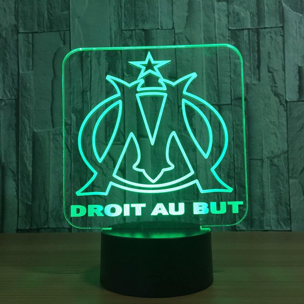 Regalo creativo DROIT AU MA Night Light 3D Illusion Lampada Da Tavolo Nightlight 7 Colori Modifica Luminaria Luci Tocco Dropshipping