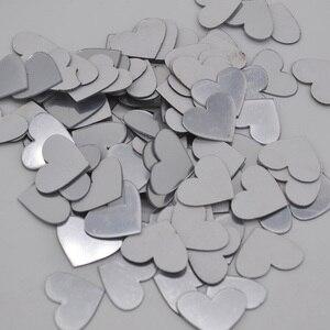 Image 5 - Pegatinas de pared de espejo acrílico 3D Mini, pegatinas de forma redonda/Corazón, decoración para sala de estar, 2cm, 100 unidades por lote