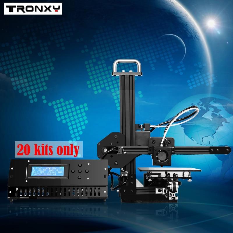 Tronxy L'éducation 3d Imprimante BRICOLAGE kit Haute Précision de bureau en aluminium profil 3d Imprimante X1 - 2