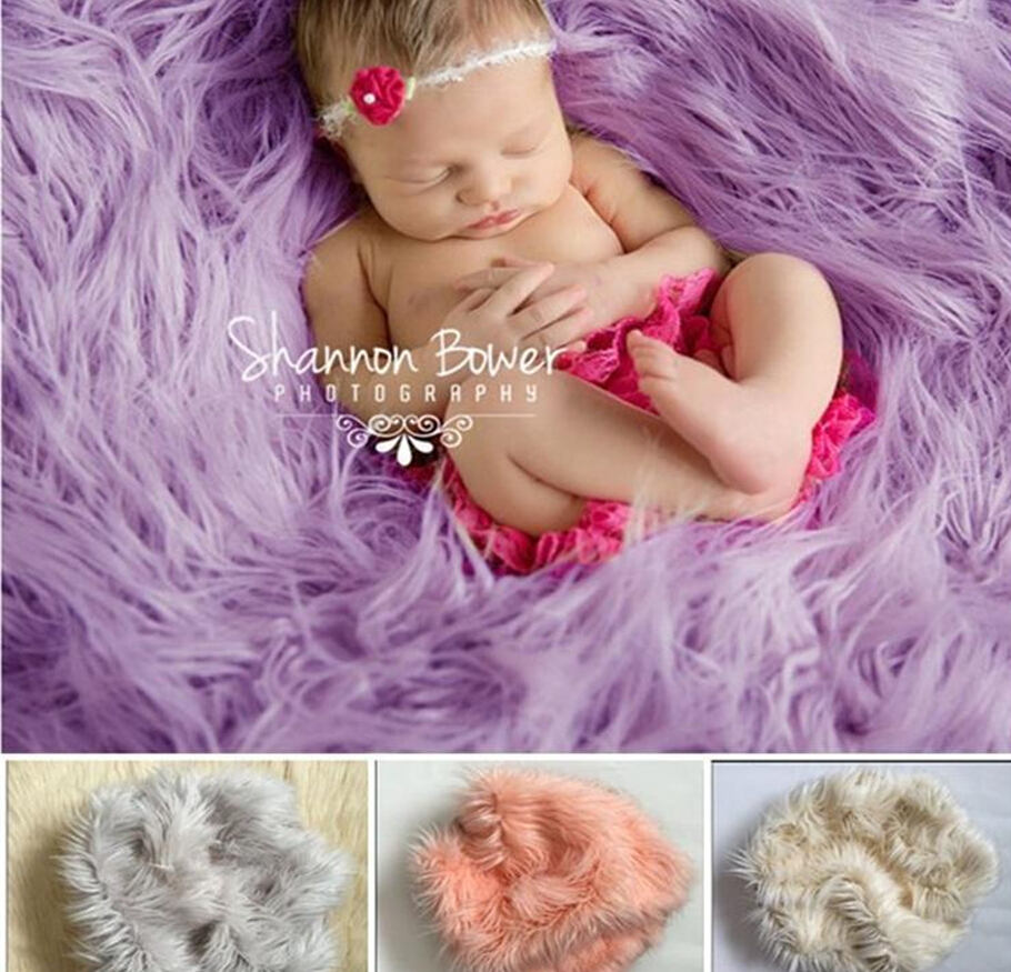 Baby Bedding Photography Props Newborn Soft Faux Fur Rug Mat Baby Infant Blanket Backdrop New Long Performance Life