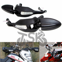 For DUCATI 796 Hypermotard 1100S 2009 10 Handlebar Protector with Turn Signal Light Lamp and Mirror