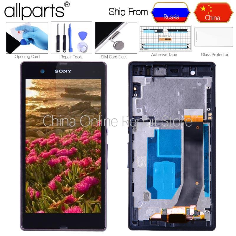 5 ''Display ORIGINALE Per SONY Xperia Z LCD Touch Screen Con Telaio Per Il SONY Xperia Z Display Replacment L36H c6603 C6602 C6606