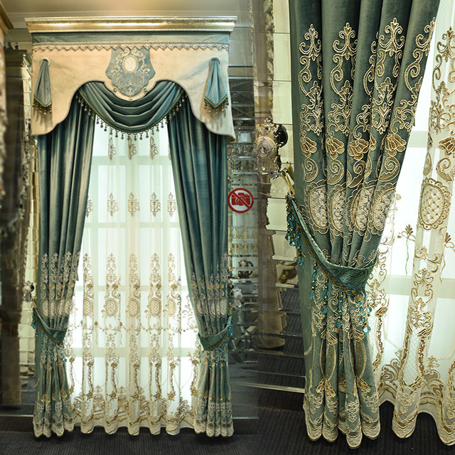 Custom Curtain European Style Curtains Italy Thick High