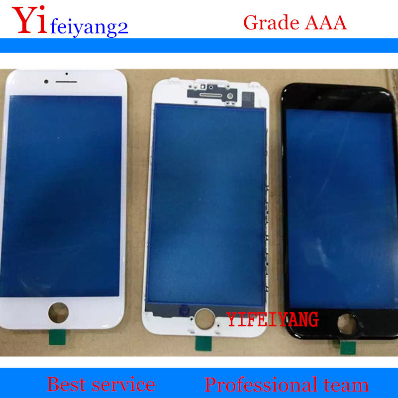 50pcs YIFEIYANG A Quality front Glass Bezel For iPhone 8 7 6 6s plus 6P 6SP