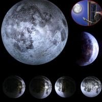 Indoor ABS Material 6 Kinds Phase Of The Moon LED Wall Moon Lamp With Remote Control