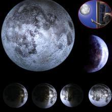 Крытый ABS 6 видов фазы Луны Светодиодный настенный луна лампа с Дистанционное управление расслабляющий исцеление лунный Новогодние товары ночник для детей