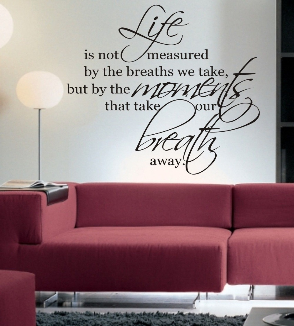 Life Is Not Measured Quote Life Is Not Measured Wall Art Sticker Quote Living Room  Kitchen