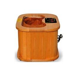 الأشعة تحت الحمراء البعيدة القدم ساونا العلاج الطيف برميل كامل التلقائي تدليك التدفئة برميل الكندي الشوكران الخشب