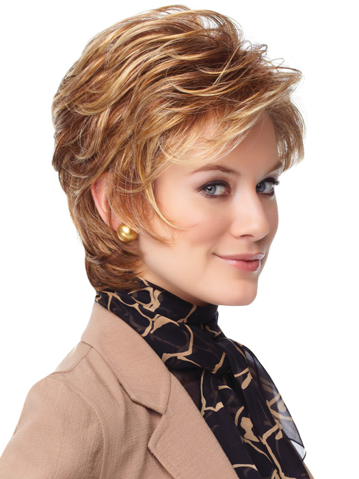 High Quality Brown Rooted Side Bangs Blonde Hair Highlight Wigs Messy Natural Straight Short Corte Cabelo Feminino Pixie Cut