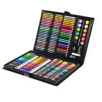 163 шт Art Набор студент палитра живопись, акварель Кисть Живопись Tool Box для детей подарочная коробка товары для рукоделия