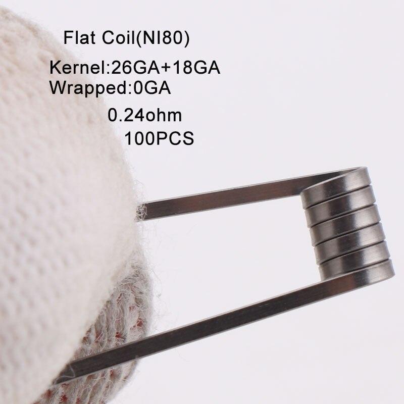 100 pcs/box NEUE XFKM Ni80 SS316l Versetzt Verschmolzen Clapton Vorgefertigte Colis Nichrome Hohe Dichte RDA RTA RBA Zerstäuber heizung Spulen