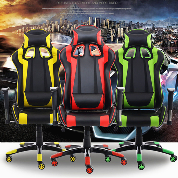 High Quality Fashion Ergonomic Computer Chair WCG Gaming Chair 180 Degree Lying Leisure Office Chair Lifting Swivel cadeira 240340 high quality back pillow office chair 3d handrail function computer household ergonomic chair 360 degree rotating seat