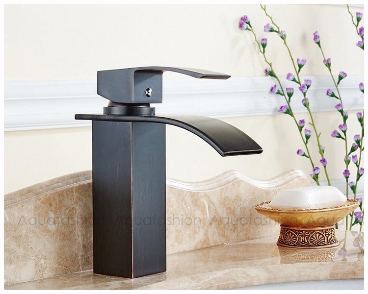 black chrome golden bathroom faucet (9)