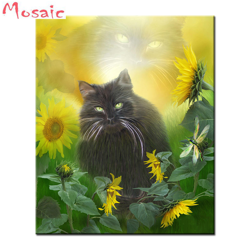 Black Cat Abstract Art