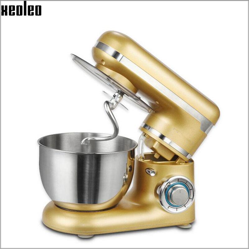 Xeoleo 4L Food mixer Golden Stand mixer 3 function Blender 6 Speed Dough mixer Egg beater 600W 220V/50HZ Dough Kneading machine