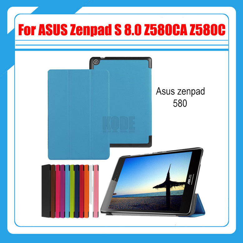 Magnetic Stand pu leather Case cover For ASUS Zenpad S 8.0 Z580 Z580CA Z580C 8