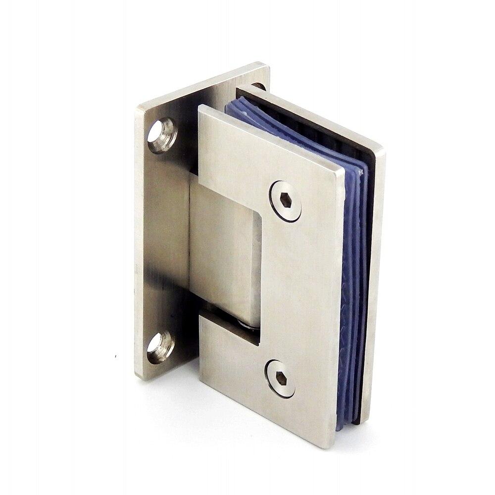 Stainless steel bathroom glass clamp glass door hinge bathroom clip 90 degrees shower accessories shower door hinges in locks from home improvement on