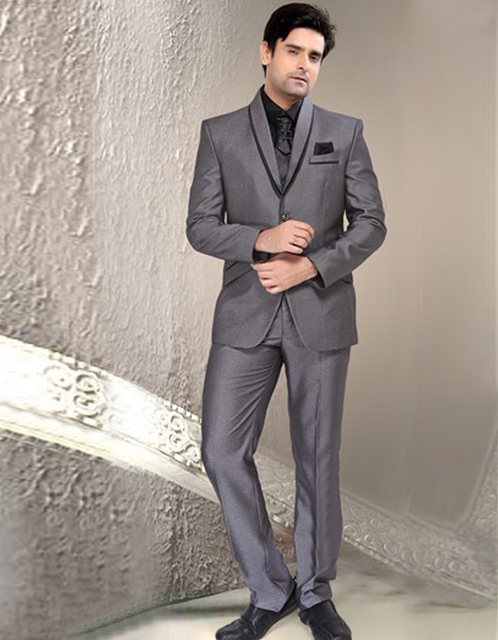 India New Arrival Formal Slim Single Breasted Three Pockets Groom