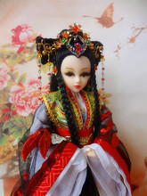 Free Shipping 12″ Vintage Chinese Princess Dolls Home Decoration Crafts Ornament Pretty Girl Toys For Valentine Day 361