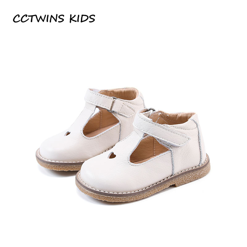 CCTWINS KIDS 2018 Spring Girl Fashion Genuine Leather Flat Children Party Mary Jane Baby Toddler Brand Shoe Black GM1940
