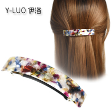 Women Hair Accessories Top Quality New Fashion Korean Leopard Curve Acetate Large Barrette For Girls