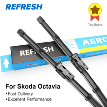REFRESH Windscreen Wiper Blades for Skoda Octavia Combi Hatchback Mk1 Mk2 Mk3 Fit Hook Side Pin Push Button Arms cheap Natural rubber 200g Clean front windshield ISO9001 035006B075