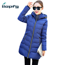7XL Size Winter Hooded Warm Cotton Padded Female High Quality Winter Coat Medium-long Large Size Winter Jacket  Parka WM409