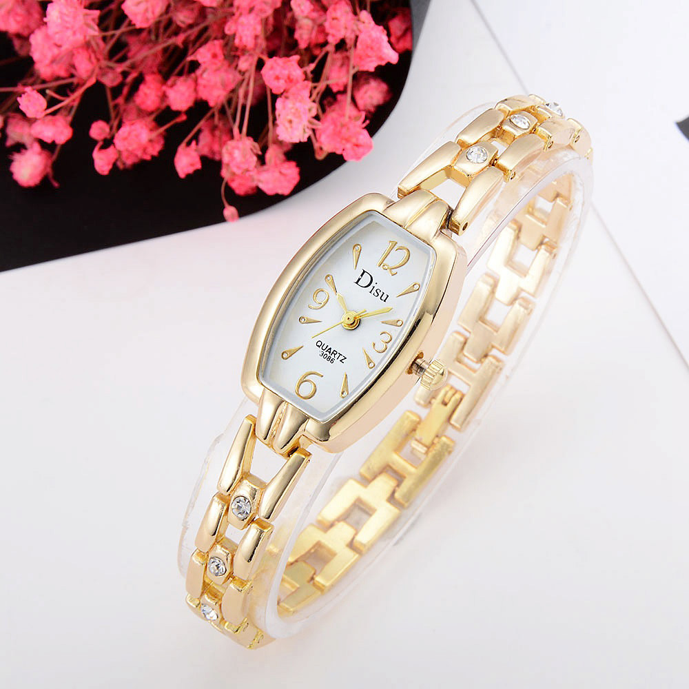 Fashion Women's Watches Ladies  Relogio feminino Silver Gold Plated Rhinestone Bracelet Quartz Watch Women #0803 women fashion watches rose gold rhinestone leather strap ladies watch analog quartz wristwatch clocks hour gift relogio feminino