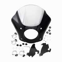 Front Headlight Fairing W/Trigger Lock Mounting Kit For Harley Sportster 1200 883 Iron 883 XL883N Seventy Two