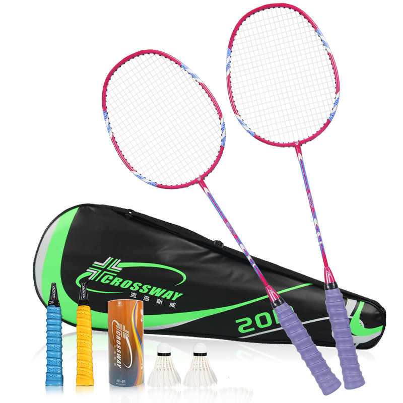 1 Pair 3U Badminton Racket 18-20 lbs High Quality High Speed High Elastic Carbon Defensive&Offensive With String Bag Racquets