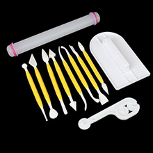faceted tool / section knife scraper (yellow and white) Plastic