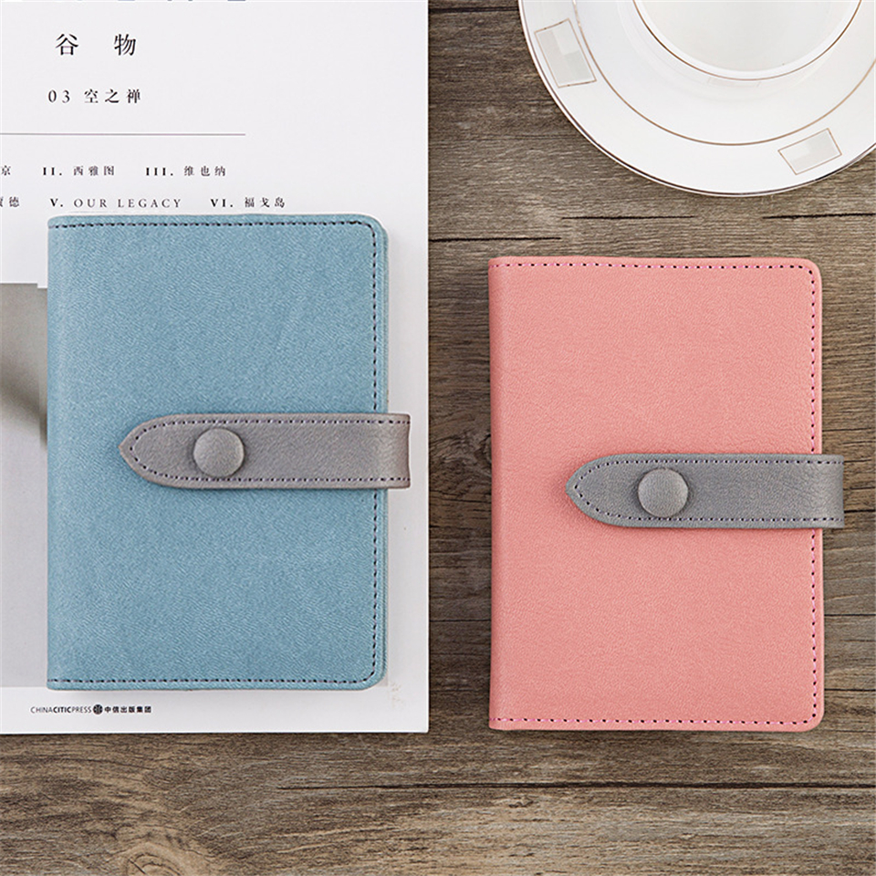A7 Schedule NoteBook Kawaii Mini Simple Cute Leather Diary Weekly Planner Notepad 2018 School Office Supplies Stationery