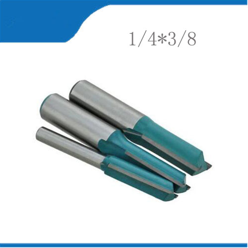 Free shipping 2pcs 1/4*3/8 Machine Wood Cutter Bits,Double Straight Flute Knife,MDF Woodworking Milling Engraving Machine 1 2 1 3 8 wood router bits slotted knife metric flute straight bit milling cutter woodworking trimming carving tools