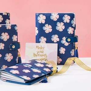 Image 3 - כיסוי עור מחברת ספירלת Lovedoki להיות יפים כמו פרחי הקיץ קוריאני כתיבה מחברת רטרו A5 יומן מתכנן שבועי