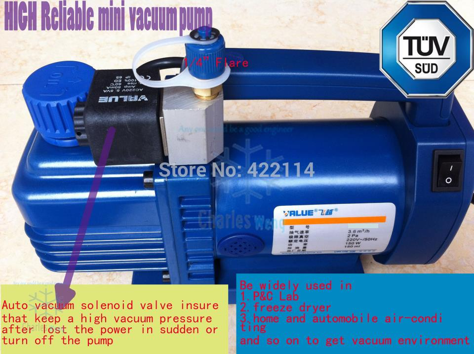 New refrigerant vacuum pump suit for R410a,R407C,R134a,R12,R22 refrigerate 2CFM free ship кейс горелка для сухого следопыт