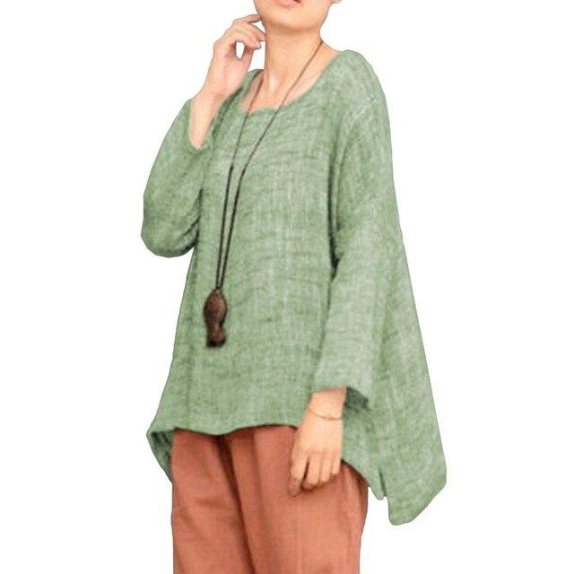 94aeba489 3XL 4XL 5XL Plus tamaño Vintage blusa Camisas de mujer Semi pura alta baja  y dobladillo