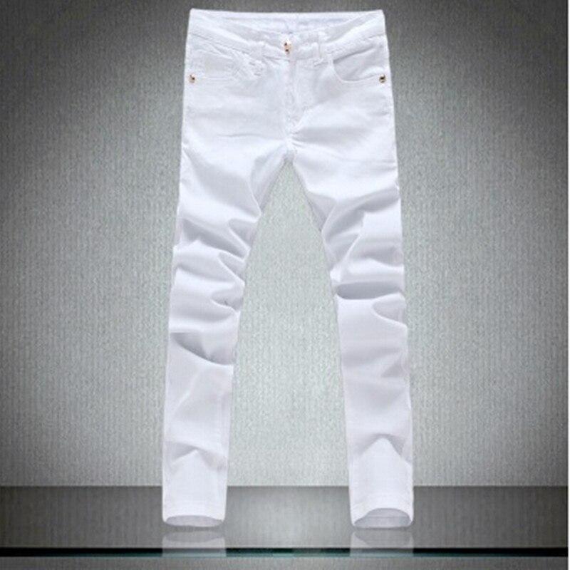 High Quality Patchowrk Jeans Men 2018 New Designer Skinny White Pants Elastic Denim Overall Slim Fit Casual Mens Clothing 2017 new designer korea men s jeans slim fit classic denim jeans pants straight trousers leg blue big size 30 34