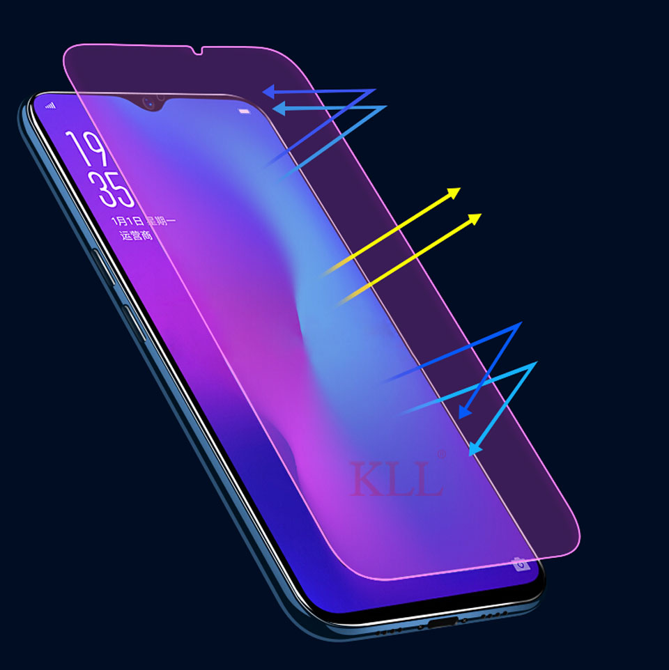 ZYS Screen Protector 25 PCS AG Matte Anti Blue Light Full Cover Tempered Glass for Oppo A7