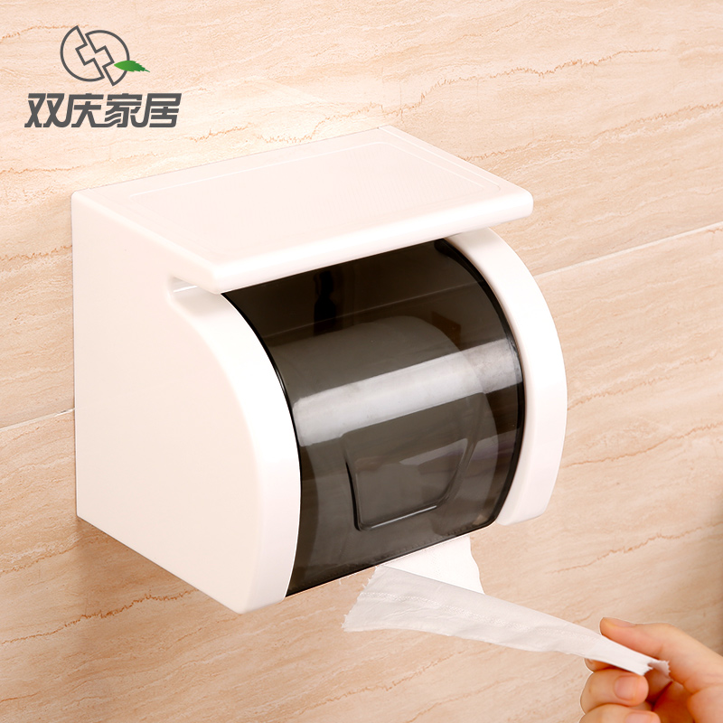 Waterproof Tissue Box Suction cup Towel Rack Tray hole-digging toilet paper box roll holder SQ-5083