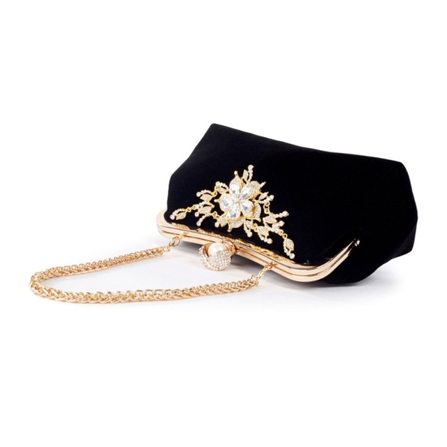 THINKTHENDO 女性パーティー結婚式クラッチ高級財布ラインストーンイブニングバッグチェーン財布