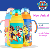 b013f1fe1 Genuine Paw Patrol 3 Color 316 Stainless Steel Vacuum Cup BPA FREE Straight  Cup Thermal Bottle