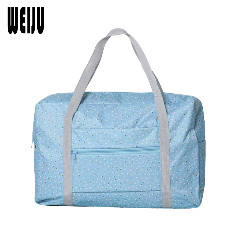 WEIJU 2017 New Folding Women Travel Bag Large Capacity Carry-on Duffle Bag Waterproof Print Travel Bags Women Portable Tote