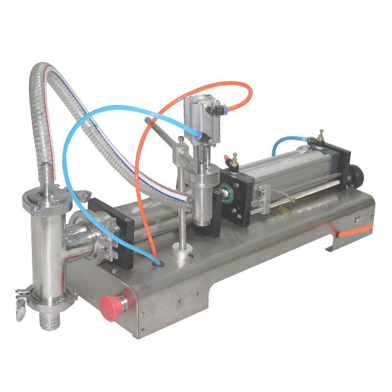 Machine de remplissage liquide de remplissage pneumatique 0.6MPa 5-1000 ml bouteille d'eau machine de remplissage sauce équipements d'emballage de remplissage de boisson