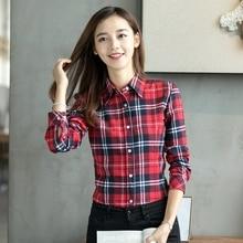 Fashion Casual Plaid Blouses And Shirts