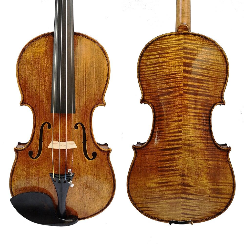 Free Shipping Copy Stradivarius 1715 100% Handmade Oil Varnish Violin + Carbon Fiber Bow  Foam Case Violon SK512