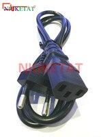 1pcs EU Plug AC Power Cord Cable 1m 100cm 3 plug contacts LED light 2835 5050 power adapter EU plug cable Charging line|ac power cord|power cordeu plug cable -