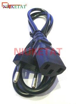 1pcs EU Plug AC Power Cord Cable 1m 100cm 3 plug contacts LED light 2835 5050 power adapter EU plug cable Charging line homegeek eu plug