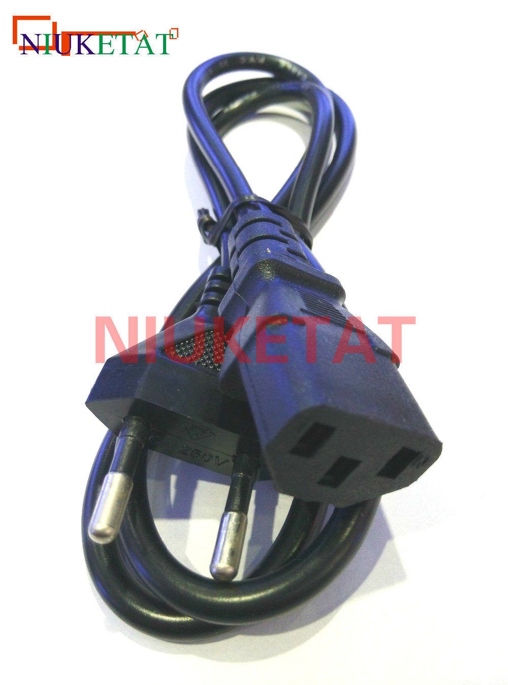 1pcs EU Plug <font><b>AC</b></font> <font><b>Power</b></font> Cord <font><b>Cable</b></font> 1m 100cm <font><b>3</b></font> plug contacts LED light 2835 5050 <font><b>power</b></font> adapter EU plug <font><b>cable</b></font> Charging line image