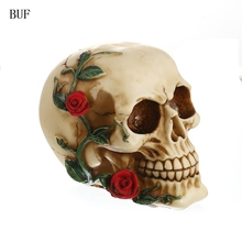 BUF Resin Craft Statues For Decoration Skull Creative Statue Sculpture Home Accessories Halloween
